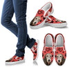 Valentine's Day Special-Irish Wolfhound Print Slip Ons For Women-Free Shipping