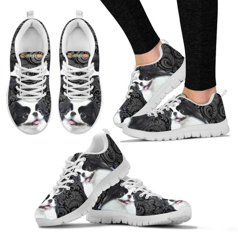 Japanese Chin On Black-Women's Running Shoes-Free Shipping