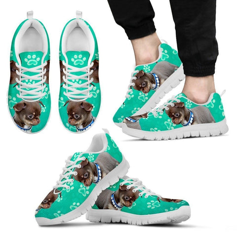 Paws Print Chihuahua (Black/White) Running Shoes For Men-Limited Edition-Express Delivery