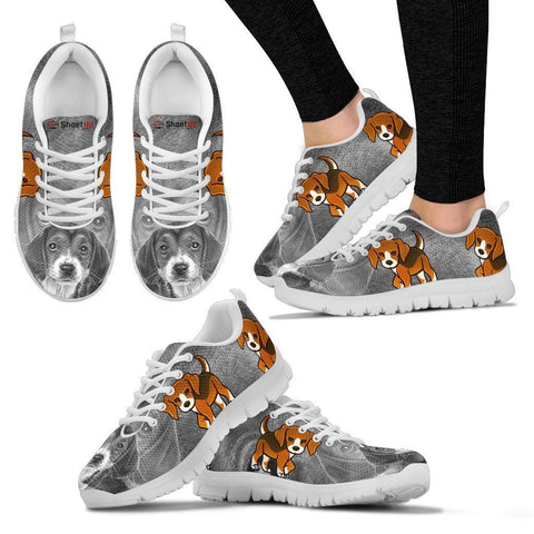 Cute&Cool Beagle Dog Print Running Shoes For Women-Free Shipping