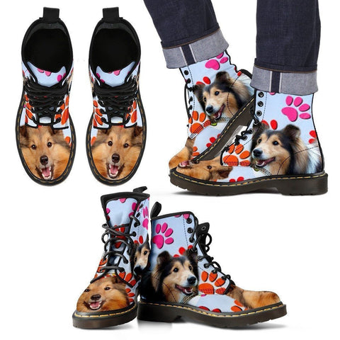 Shetland Sheepdog Print Boots For Men-Express Shipping-Paww-Printz-Merchandise