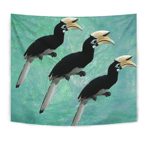 African Pied Hornbill Bird Print Tapestry-Free Shipping