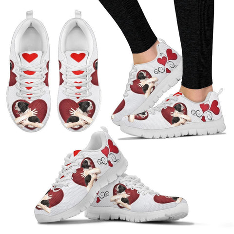 Valentine's Day Special-Boston Terrier in heart Print Running Shoes For Women-Free Shipping