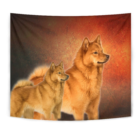 Finnish Spitz Dog Print Tapestry-Free Shipping