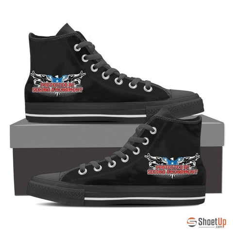 Protected By Second Amendment-Men's Canvas Shoes-Free Shipping