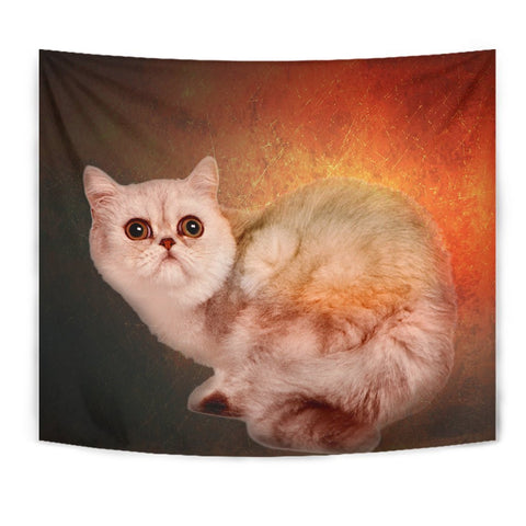 Amazing Exotic Shorthair Cat Print Tapestry-Free Shipping