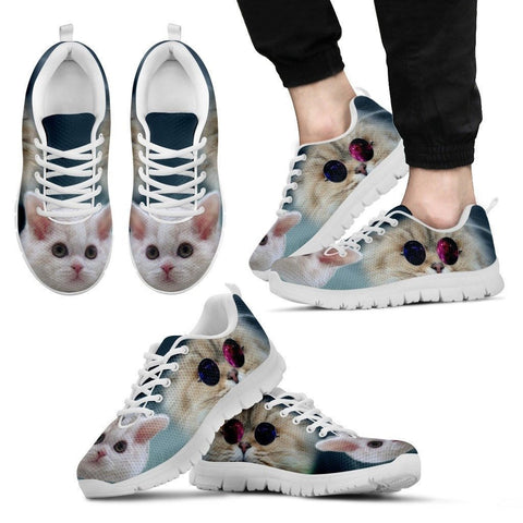 Cute Selkirk Rex Cat Print Running Shoe For Men- Free Shipping