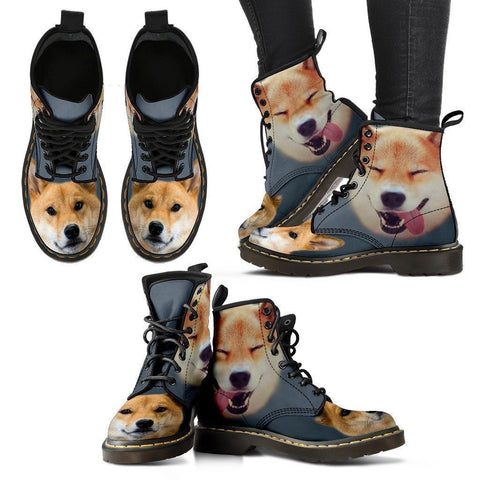Shiba Inu Dog Print Boots For Women- Express Shipping-Paww-Printz-Merchandise