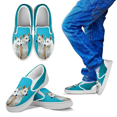 Canaan Dog Print Slip Ons For Kids-Express Shipping