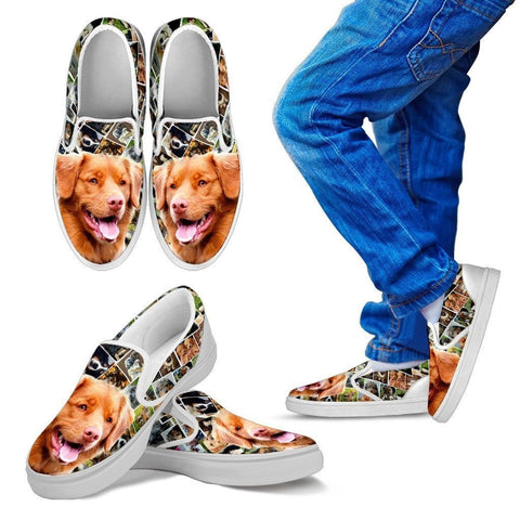 Amazing Nova Scotia Duck Tolling Retriever Print Slip Ons For Kids-Express Shipping