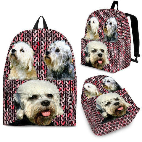 Dandie Dinmont Terrier Dog Print Backpack-Express Shipping