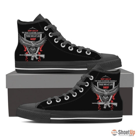 Right to Defend Yourself - Men's Canvas Shoes (Free Shipping)
