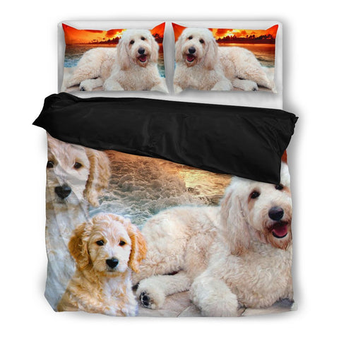 Lovely Goldendoodle Print Bedding Set- Free Shipping