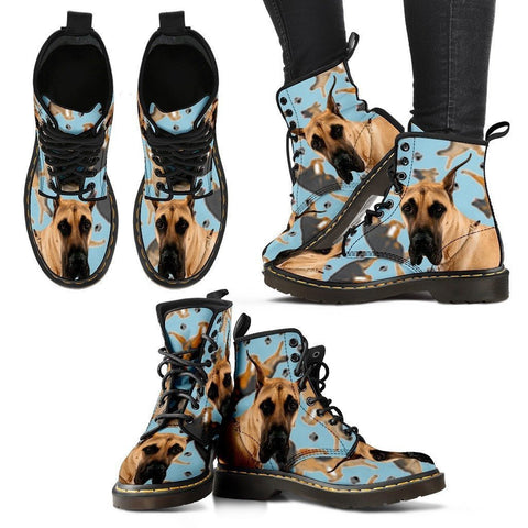 Great Dane Print Boots For Women-Express Shipping
