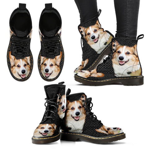 Pembroke Welsh Corgi Print Boots For Women-Express Shipping