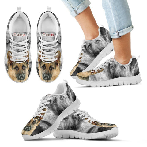 Amazing German Shepherd Print Sneakers For Kids- Free Shipping