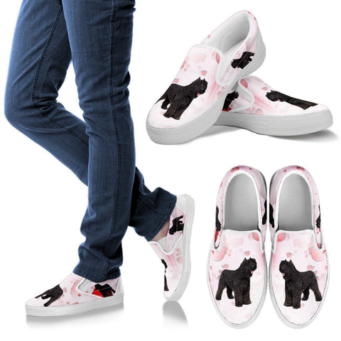 Valentine's Day Special-Bouvier des Flandres Print Slip Ons For Women-Free Shipping