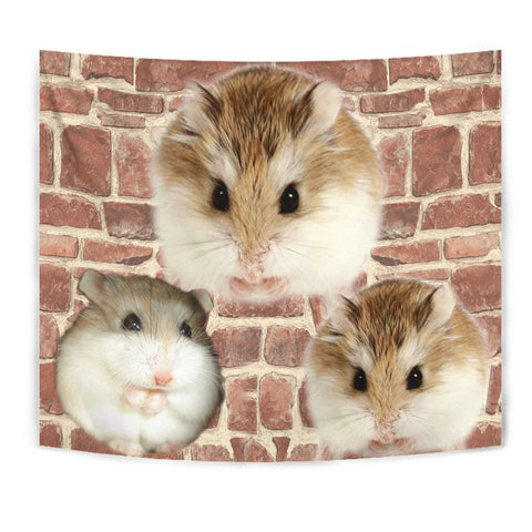 Roborovski Hamster On Wall Print Tapestry-Free Shipping