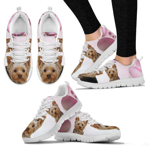 Yorkshire Pink White Print Running Shoes For Women-Free Shipping