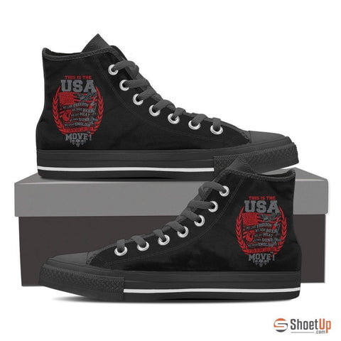 This Is The USA We Love Freedom-Women's Canvas Shoes-Free Shipping