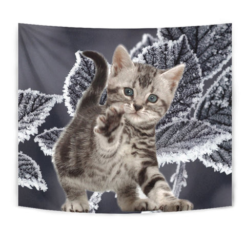 American Bobtail Kitten Print Tapestry-Free Shipping