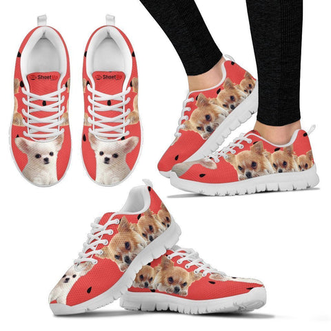 Chihuahua and Black Dots Print Running Shoes For Women-Free Shipping
