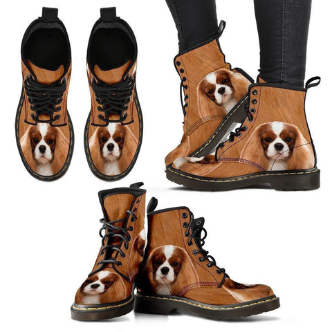Cavalier King Charles Spaniel Print Boots For Women-Express Shipping-Paww-Printz-Merchandise