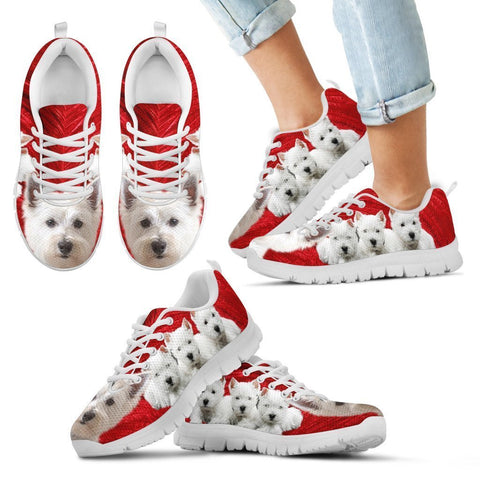 West Highland White Terrier Print Running Shoes For Kids- Free Shipping