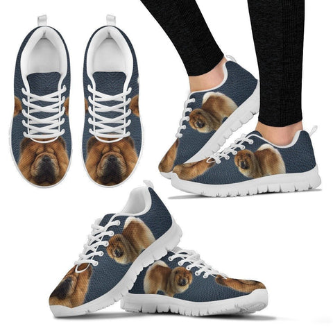 Customized Dog Print Running Shoes For Women-Express Shipping- Designed By Brenda Jensen