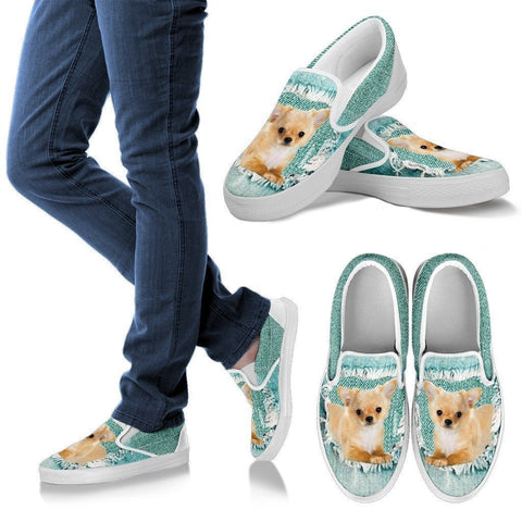 Cute Chihuahua Dog Print Slip Ons For Women-Express Shipping