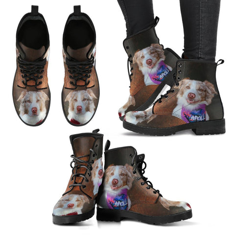 Customized Pet Print Leather Boots For Women-Free Shipping- (Influencer)