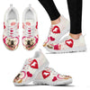 Valentine's Day Special Bulldog Print Running Shoes For Women- Free Shipping