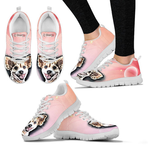 Customized Dog Shoes-Cartoon Running Shoes For Women-Designed By Sandy Hunter-Express Shipping
