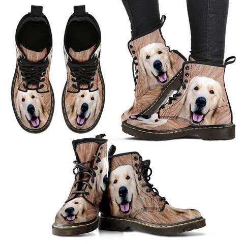 Golden Retriever Print Boots For Women-Express Shipping