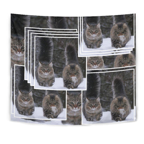 Norwegian Forest Cat Print Tapestry-Free Shipping