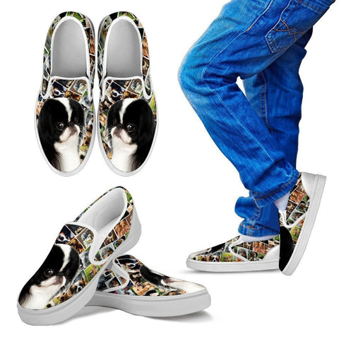 Amazing Japanese Chin Dog Print Slip Ons For Kids-Express Shipping