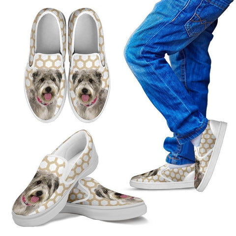 Glen of Imaal Terrier Print Slip Ons For Kids-Express Shipping