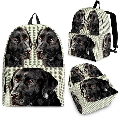 Black Labrador Print BackPack - Express Shipping