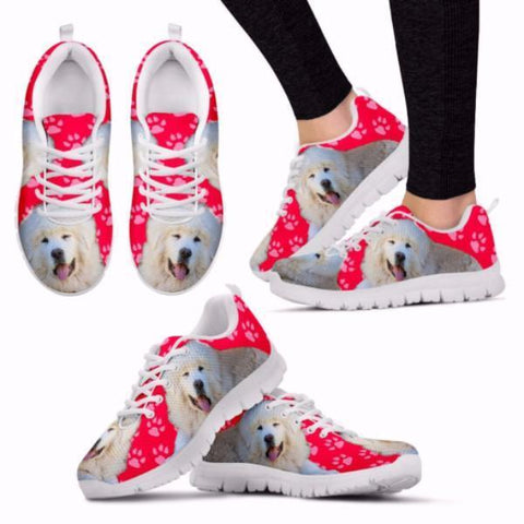 Customized Dog Print Running Shoes for Women-Free Shipping-Designed By Francoise Martin