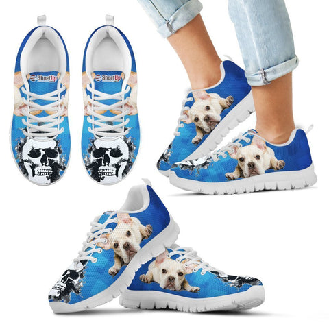 French Bulldog Halloween Print Running Shoes For Kids- Free Shipping