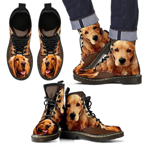 Amazing Cocker Spaniel Boots For Men- Express Shipping