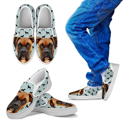 Boxer Print Slip Ons For Kids- Express Shipping
