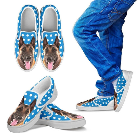 Belgian Malinois Dog Slip Ons For Kids-Free Shipping