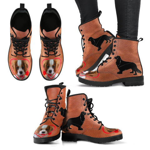 Valentine's Day Special Cavalier King Charles Spaniel Print Boots For Women-Free Shipping