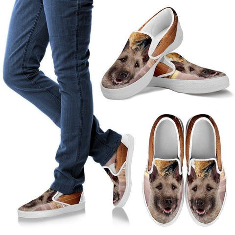 Belgian Laekenois Print Slip Ons For Women- Express Shipping