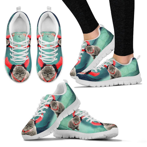 Exotic Shorthaired Cat (Halloween) Print-Running Shoes For Women/Kids-Free Shipping