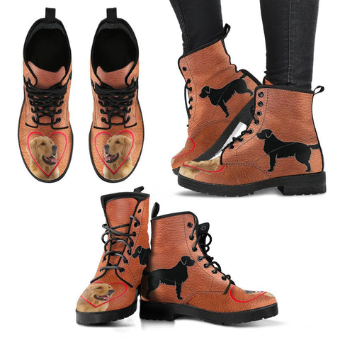 Valentine's Day Special Golden Retriever Print Boots For Women-Free Shipping