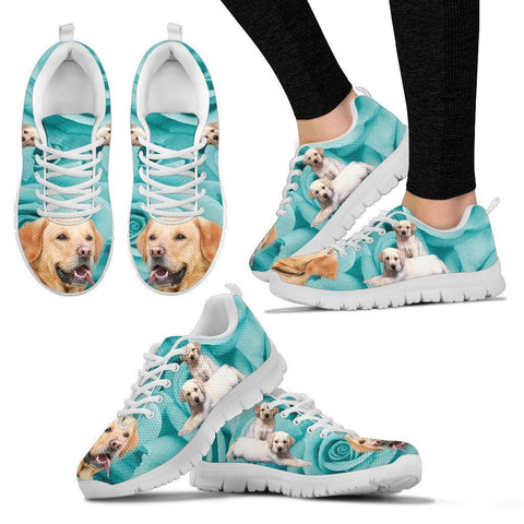 Cute Labrador Print Sneakers For Women- Free Shipping