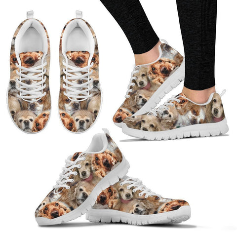 Cocker Spaniel  Pattern Print Sneakers For Women- Express Shipping