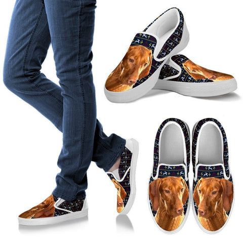 Vizsla Dog Print-Slip Ons For Women-Express Shipping